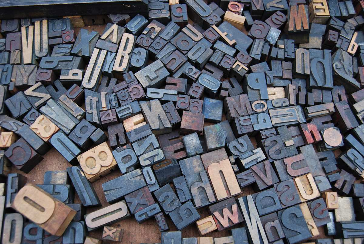 Letter Wood Stamp Lot